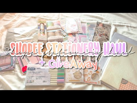 Shopee Stationery Haul + Giveaway | Indonesia