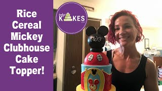 Mickey Mouse Clubhouse Cake Topper  How to Cover a Round Object in Fondant
