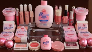 """Mixing""""Pink BabyLotion """" Eyeshadow and Makeup,parts,glitter Into Slime!Satisfying Slime Video!★ASMR★"""
