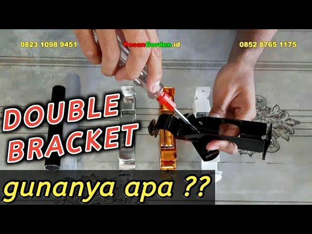 Apa Fungsinya ?? Double Bracket | Kaki Double Untuk Rel Bulat - Order 085287651175 #gudanggorden