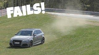 Audi RS3's LOVE to Understeer on the Nürburgring!