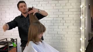 Женская стрижка каскад с объемной макушкой Максим Воробьев Как подстричь челку