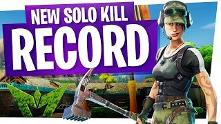 The Salty Springs Slayer! - Our New Solo Kill Record Game in Fortnite Battle Royale