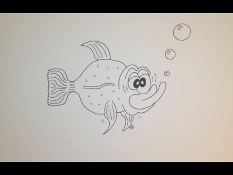 Comment dessiner un poisson facile tape par tape tutoriel youtube - Dessin de poisson facile ...