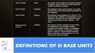 DEFINITIONS OF SI BASE UNITS