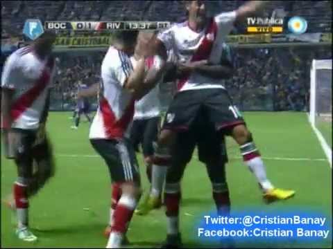 Boca 1 River 2 (Relato Mariano Closs) Torneo Final 2014 Los goles (30/3/2014)