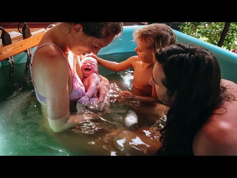 HOME BIRTH VLOG: Water Birth In OFF GRID Paradise