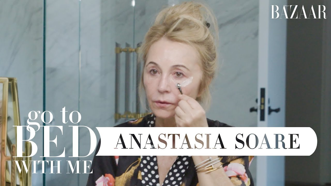 Anastasia Soare's Nighttime Skincare Routine | Go To Bed With Me | Harper's BAZAAR