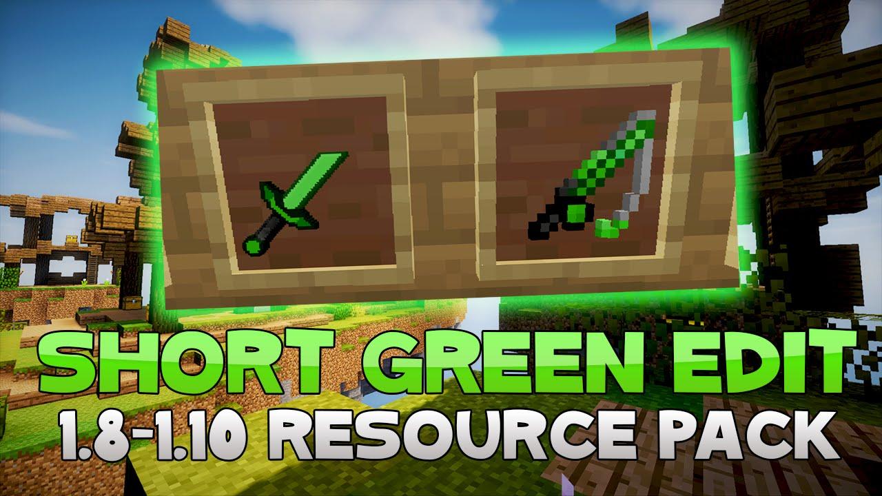 AciDic BliTzz GREEN SHORT SWORD Texture Pack (1.8/1.9/1.10 ... | 1280 x 720 jpeg 155kB