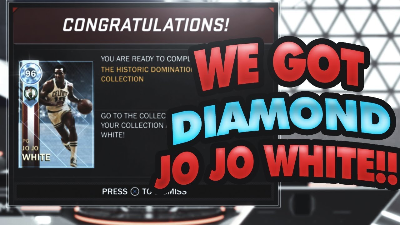 WE GOT OUR HISTORIC DOMINATION REWARDS DIAMOND JO JO WHITE