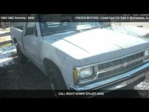 1992 gmc sonoma reg cab short bed 2wd for sale in for Crider motors mishawaka in