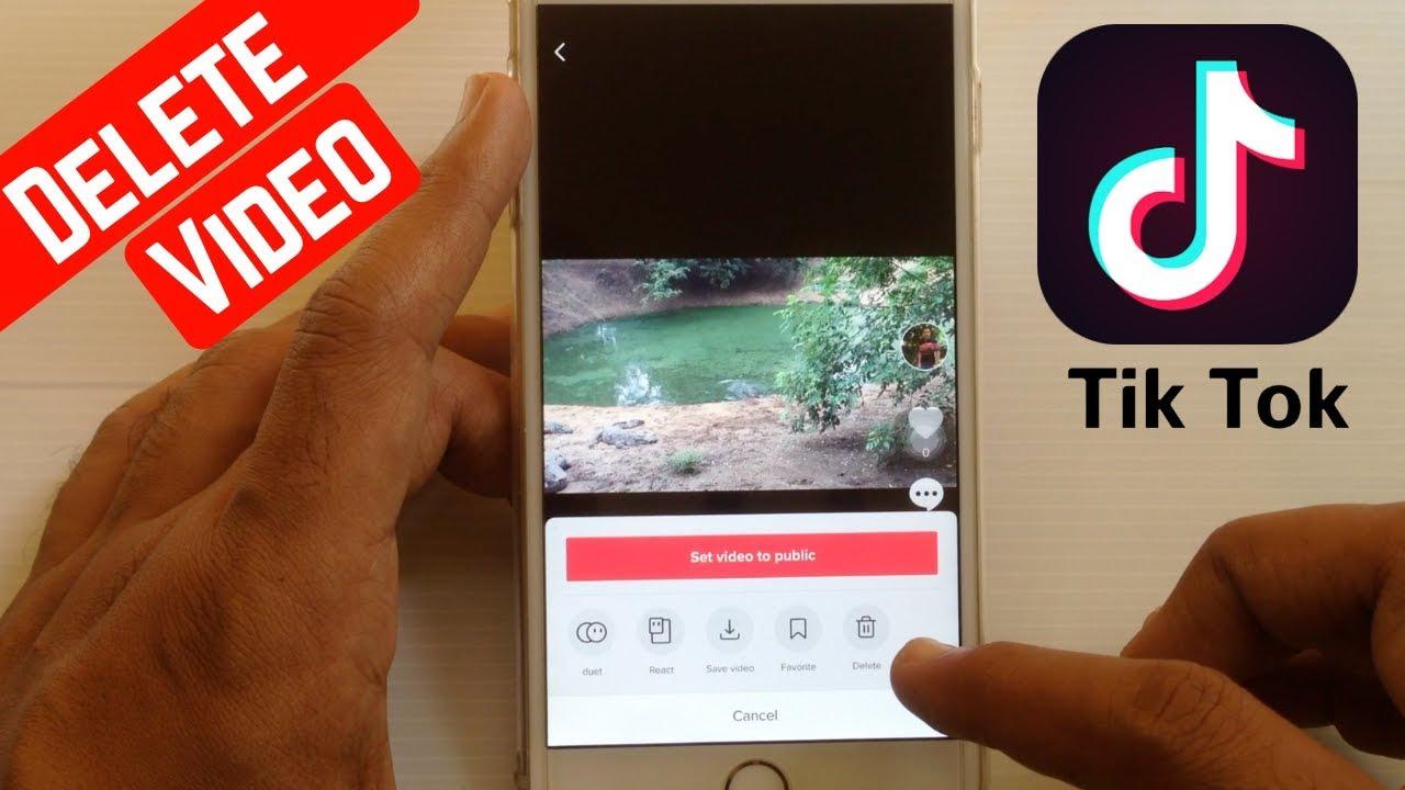 How To Delete Tik Tok Video Youtube