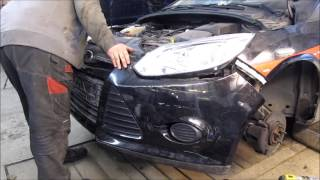 Ford focus. Minor body repair. Небольшой ремонт кузова.(, 2017-04-02T15:41:29.000Z)