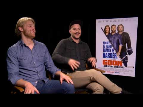 Marc-André Grondin x Wyatt Russell on GOON: LAST OF THE ENFORCERS