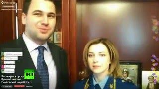 Путешествие по рабочему месту Натальи Поклонской в Periscope RT на русском