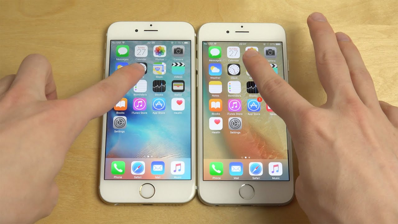iphone 6 ios 9 0 1 vs iphone 6 ios 9 1 beta 2 which is faster youtube. Black Bedroom Furniture Sets. Home Design Ideas