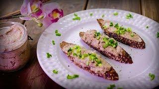 Рецепт | Хрустящий багет с грибным паштетом | Простой рецепт
