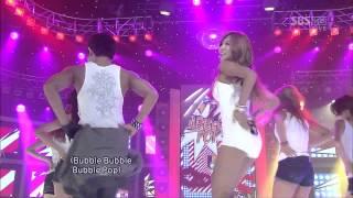 hyuna bubble pop live ft lee joon