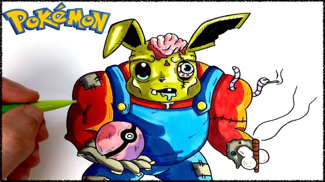 Dessin evolie zombie pokemon youtube - Dessin de zombie ...