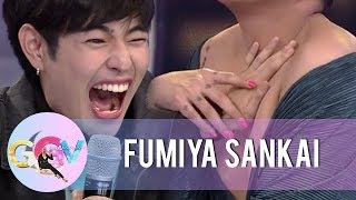 Fumiya screams with fear while touching Vice Ganda's body parts | GGV