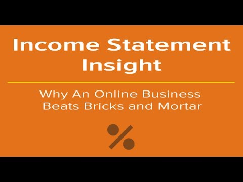 Income Statement Insight: Why An Online Business Beats Bricks and Mortar