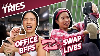 Office BFFs Swap Lives For A Day + GIVEAWAY   ZULA Tries   EP 29