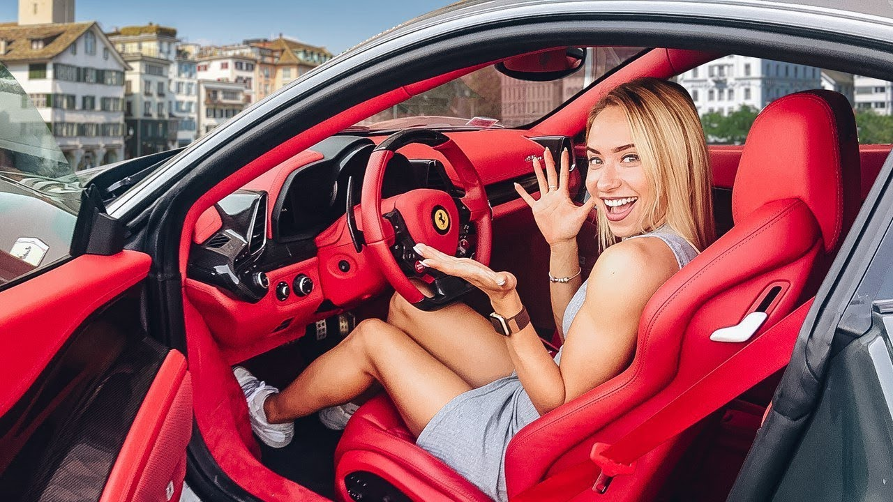 МАША ГОНЯЕТ ПЕРВЫЙ РАЗ НА Ferrari / РЕАКЦИЯ И ТЕСТ-ДРАЙВ