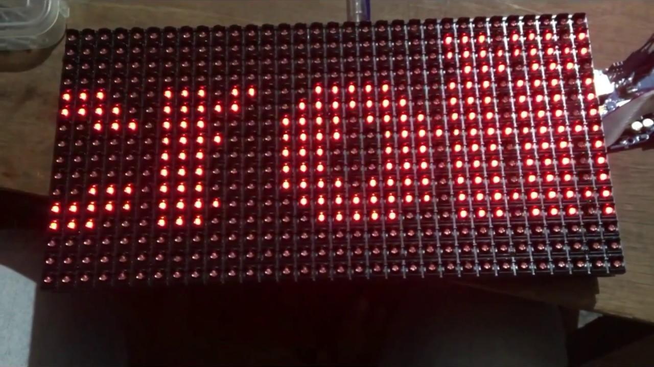 Interfacing P10 or 16x32 DMD Display with Arduino