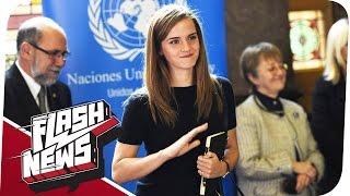 Emma Watson nach UN-Rede bedroht und USA bombardiert Syrien! - FLASH NEWS