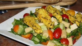 Recette Salade De Poulet Mariné - Marinated Chicken Salad Recipe - Recettes Maroc