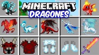 Minecraft - DRAGONES MOD - Dragones de HIELO vs FUEGO y adoptalos!!