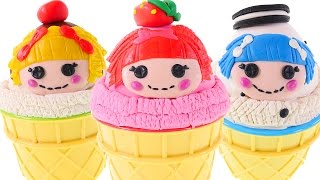 4 Lalaloopsy Play Doh Ice Cream Surprise Eggs Webo Toon Toys Chocolate Sorpresa Huevos