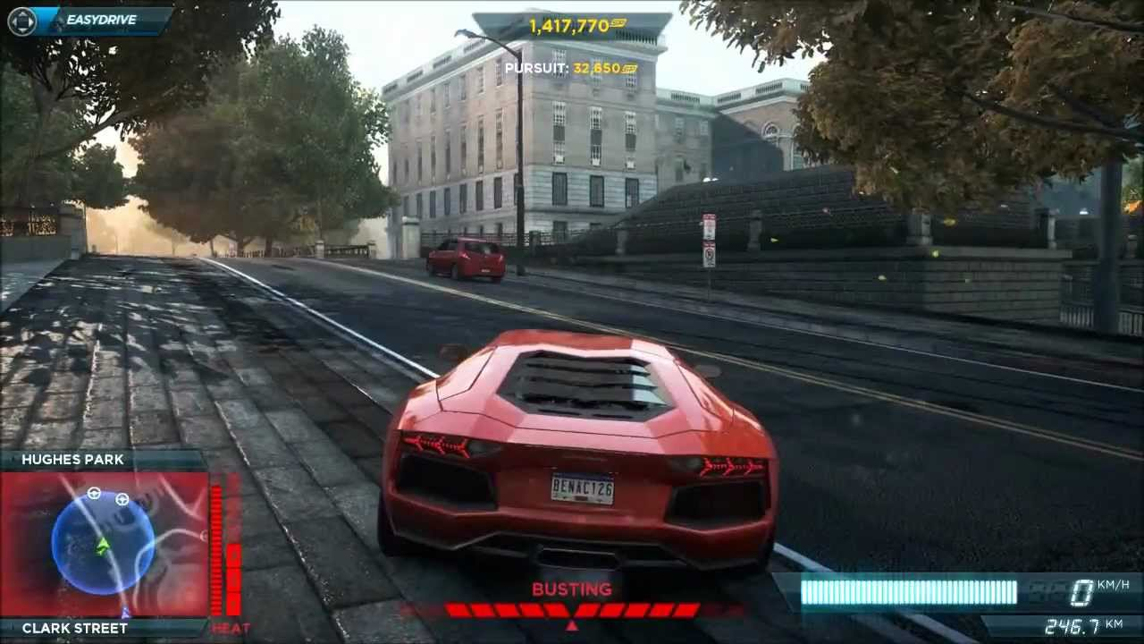 Need for speed mostwanted 2012 police chase aventador for Nefor espid mosguante