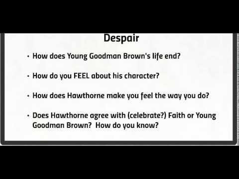 an analysis of young goodman brown versus the community