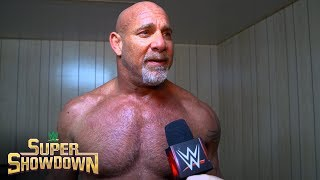 "Goldberg details his game plan for defeating ""The Fiend"" Bray Wyatt: WWE Exclusive, Feb. 27, 2020"