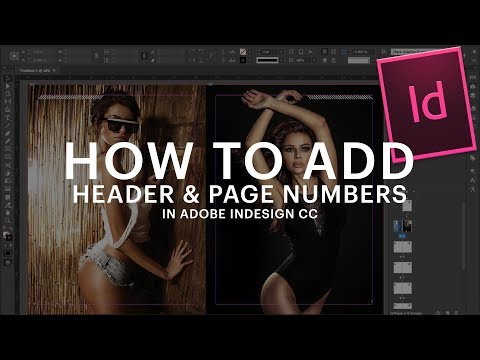 How to Add Header & Page Numbers in Adobe Indesign CC