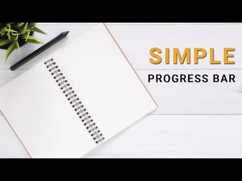 Basic Progress bar Animation with css3 | progress bar | Animated progress bar