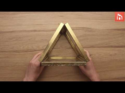 DIY:Candle holder from Picture Frames