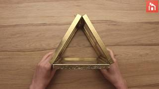 DIY:Candle holder from Picture Frames Video
