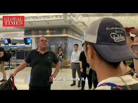 Foreigner encounters HK protesters: Hong Kong is a part of China!