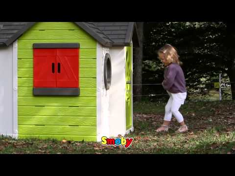 SMOBY ΣΠΙΤΑΚΙ ΚΗΠΟΥ MY HOUSE PLAYHOUSE ΜΕ ΤΡΑΠΕΖΙ
