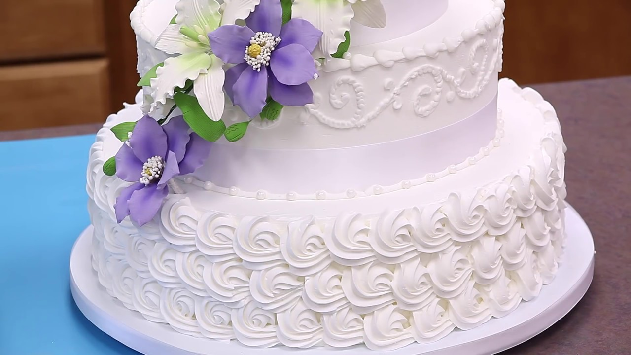 How To Make Your Own Buttercream Wedding Cake Part 1