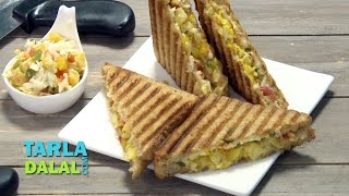 Cheesy Corn Grilled Sandwich