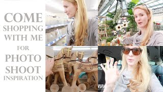 Come SHOPPING with me for PHOTOSHOOT inspiration & studio essentials - Action Shoplog