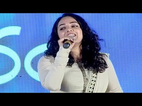 Nitya Menon Sings Mana Mana Mental Manadhil Song @ OK Bangaram Audio Success Meet