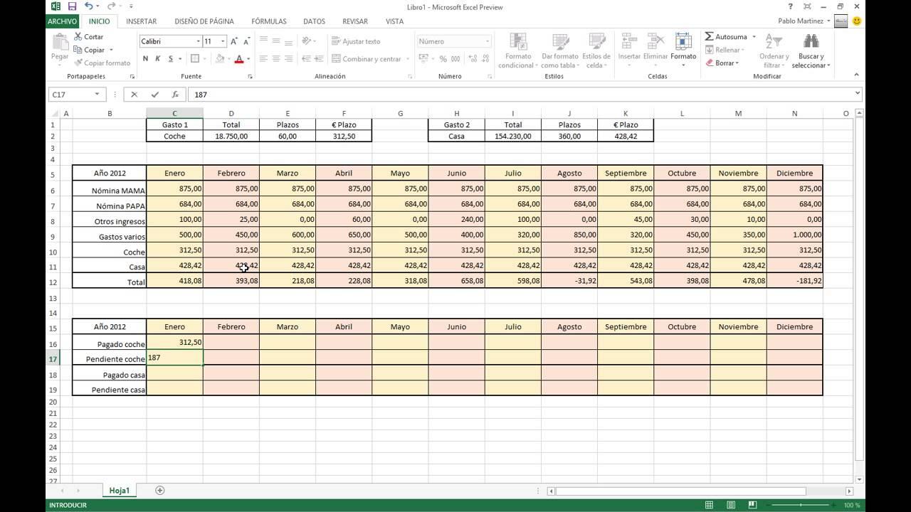 Excel 2013 - Contabilidad doméstica con control de hipoteca y ...