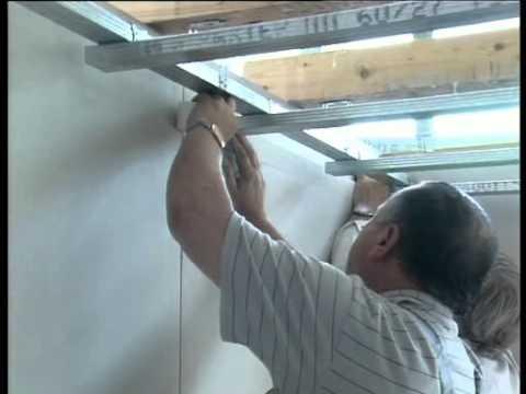 видео: Подвесные потолки из гипсокартона