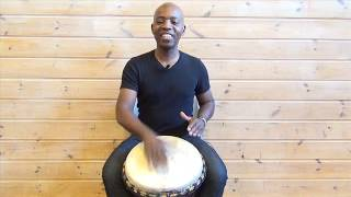 Exercise 2: How to play the djembe lesson - african drum and rhythm training