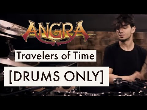 BRUNO VALVERDE - ANGRA [DRUMS ONLY] TRAVELERS OF TIME DRUM PLAYTHROUGH