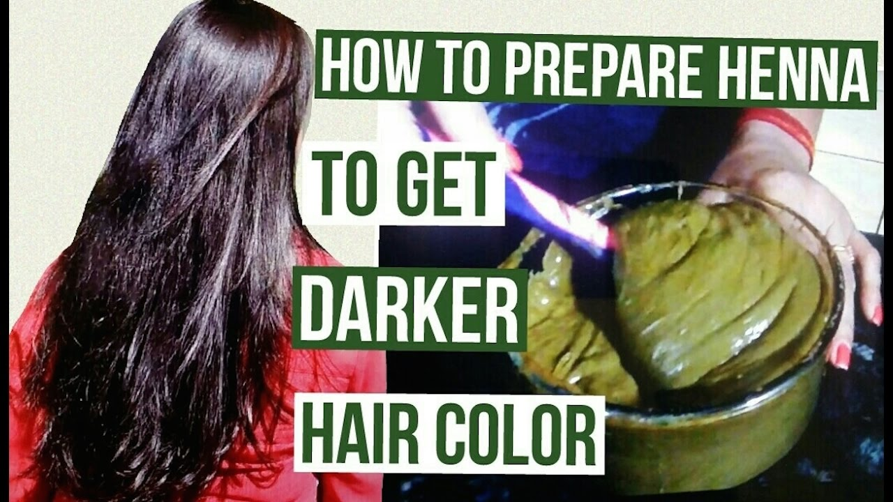 Mehndi On Hair How To Prepare : How to prepare henna get darker hair color pack